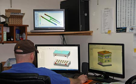 Injection mold designer using design software